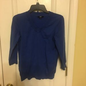 Preowned Anne Klein Sport women's sweater blue M